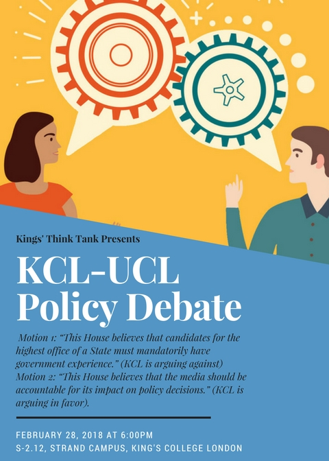 KCL UCL Policy Debate